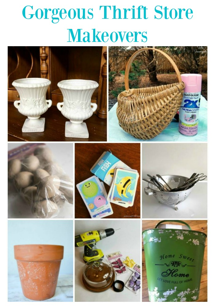 Join us each month for thrift store decor makeover ideas! So creative! Here are the before.