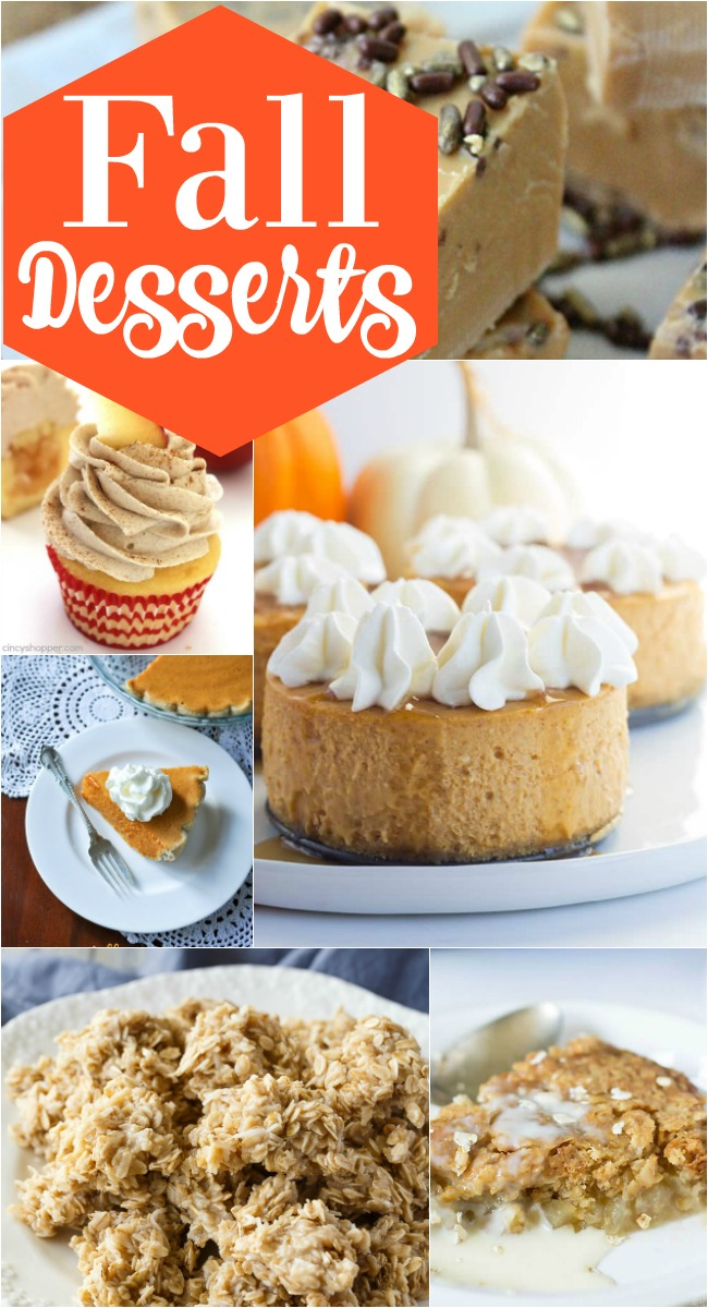 Fall deserts are the features from Inspiration Monday link party!