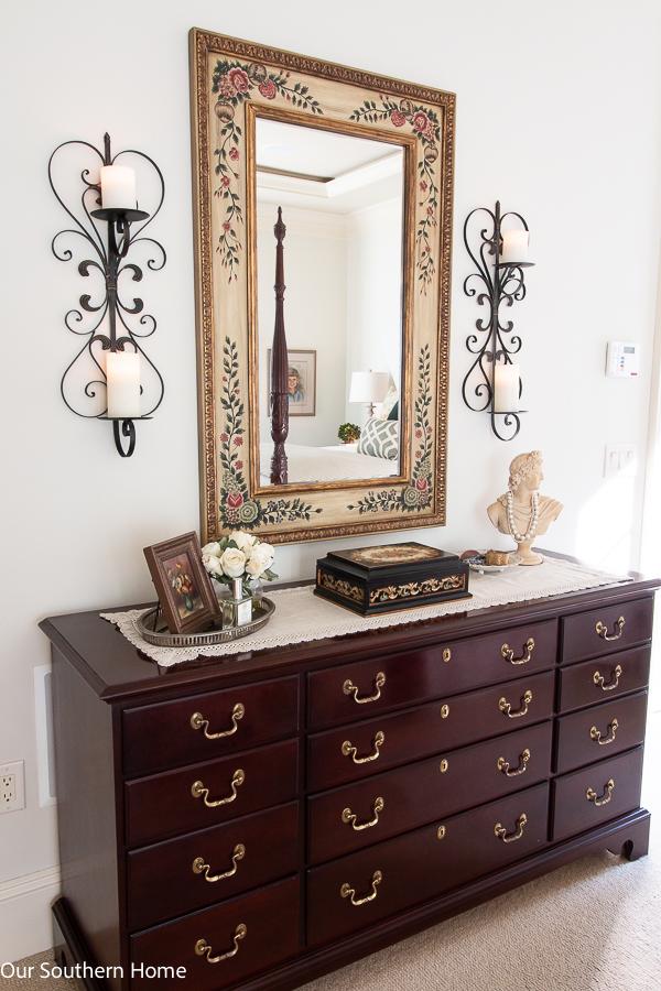 dresser in a master bedroom