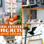 Fall outdoor decorating ideas for porches and more!