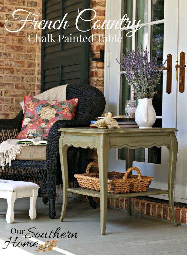 french country chalk painted table by our southern home