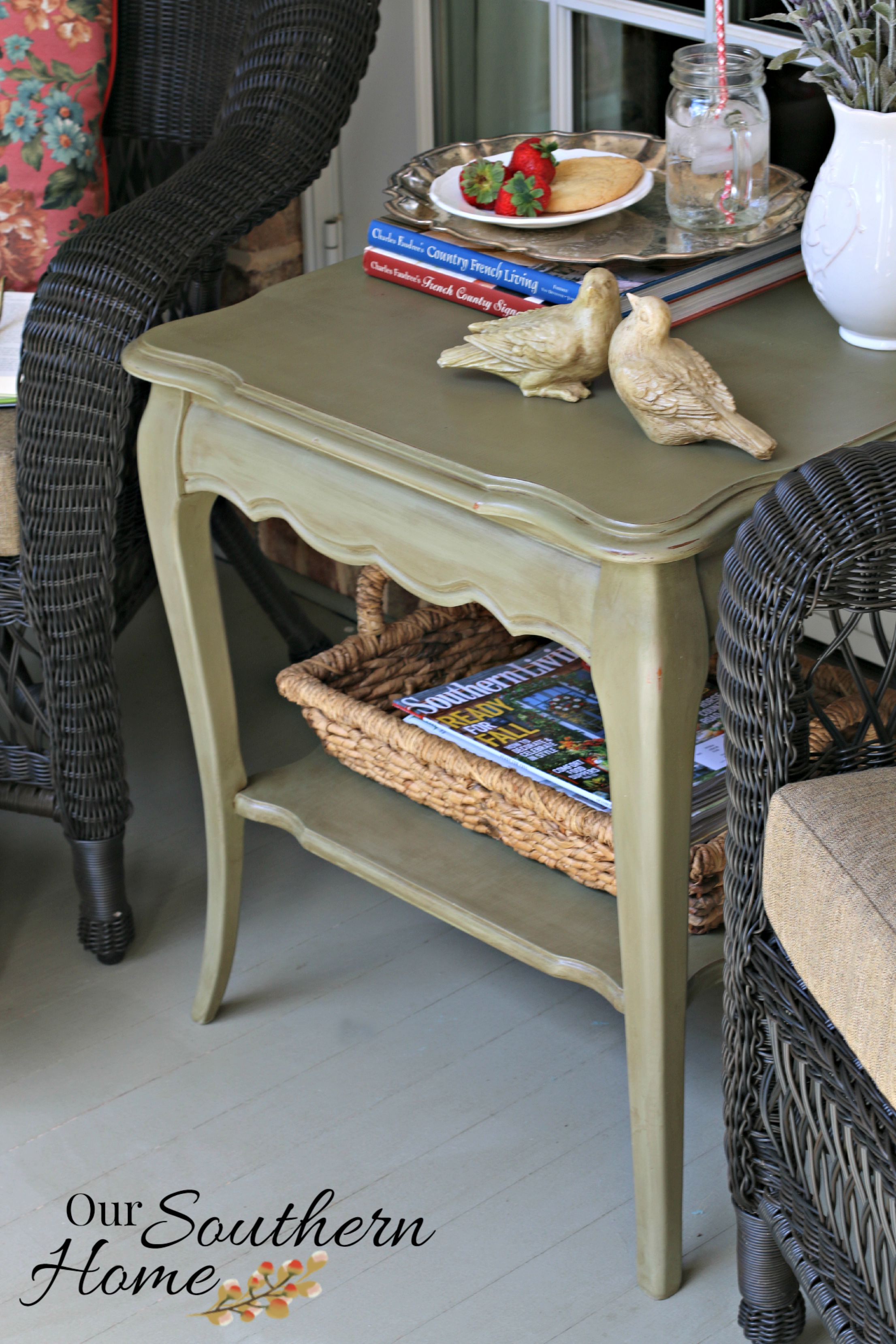 French Country Chalk Painted Table Our Southern Home