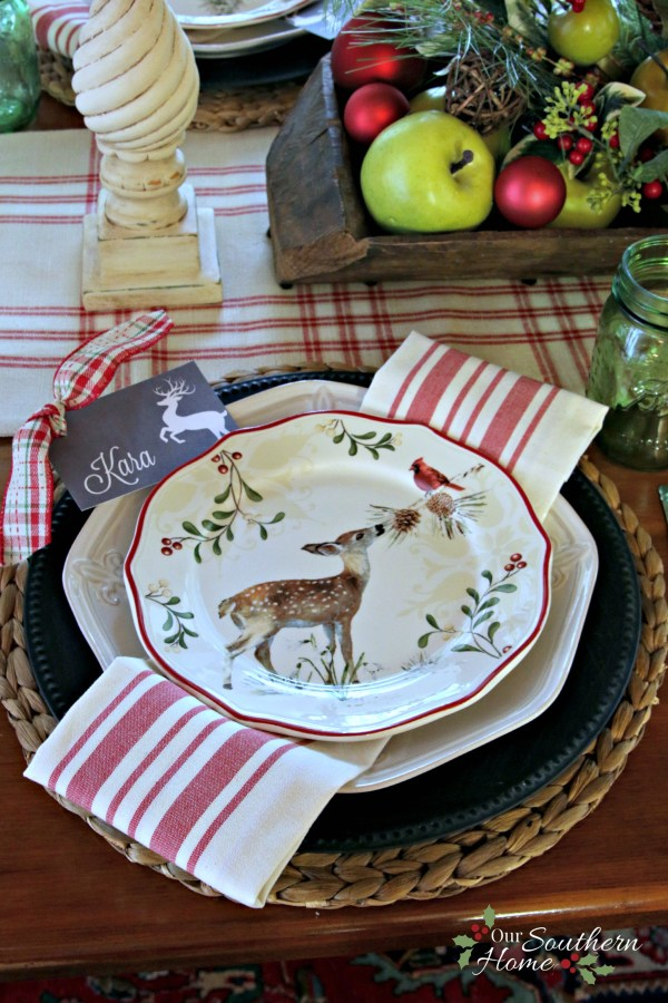 French Farmhouse Christmas kitchen by Our Southern Home