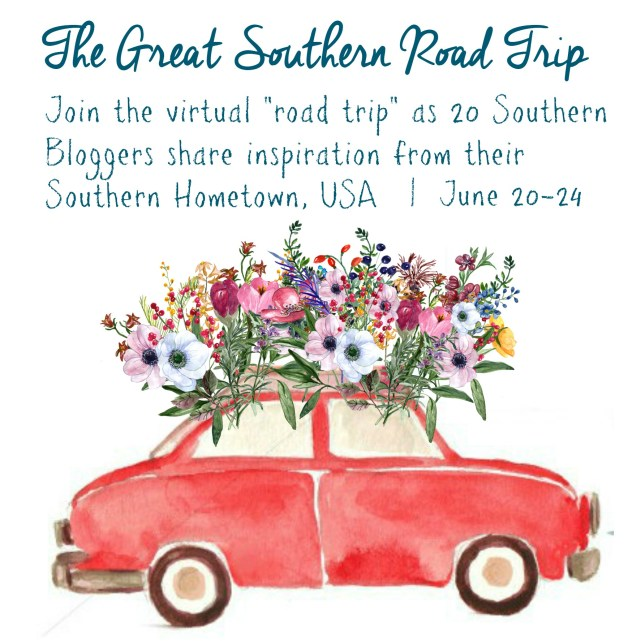 Come along and take a virtual road trip of the south with a group of southern bloggers. Guaranteed to spark your creativity and give you new vacation plans!