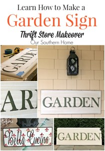 Hand-painted garden sign tutorial with a thrift store sign by Our Southern Home
