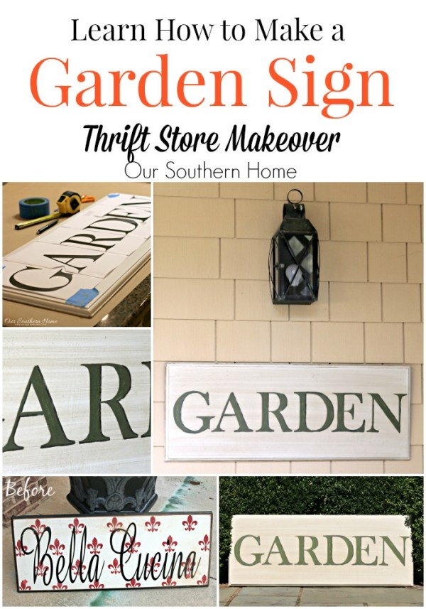 hand painted garden sign by our southern home 10