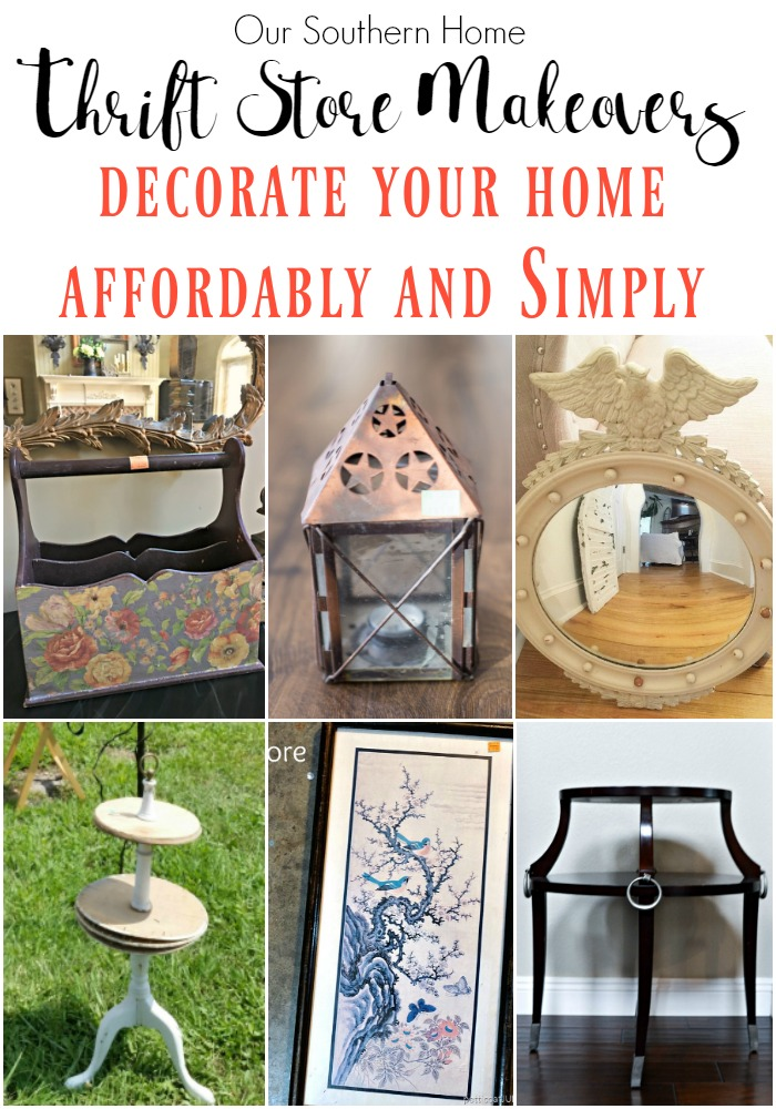 Thrift store finds are the perfect way to decorate your home. It's affordable and easy to transform!