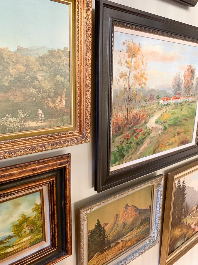 vintage landscape gallery wall