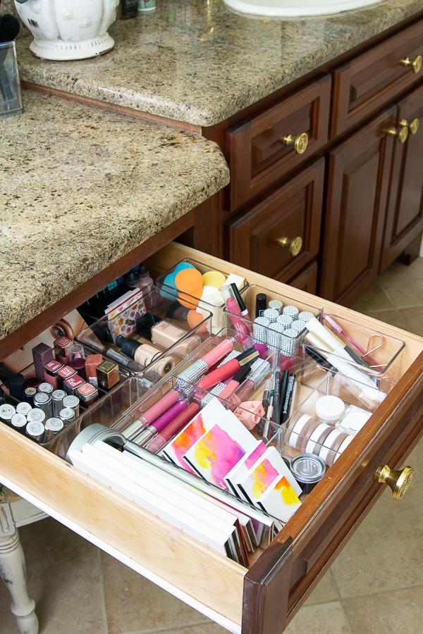bathroom makeup drawer
