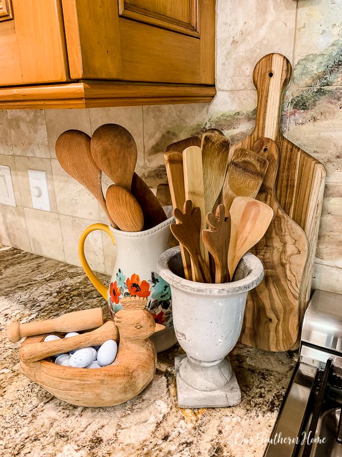 urns on kitchen counter