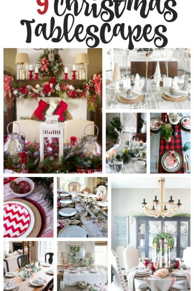 9 Christmas Tablescape Ideas are the features from Inspiration Monday!
