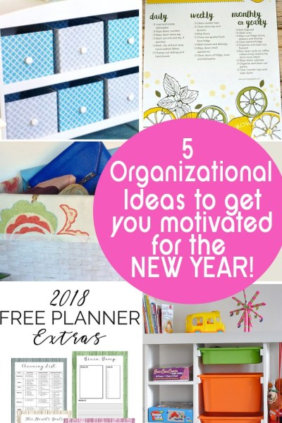 5 Organizational ideas for the home to motivate you in the new year are the features from this week's Inspiration Monday!