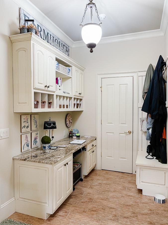 disorganized home office