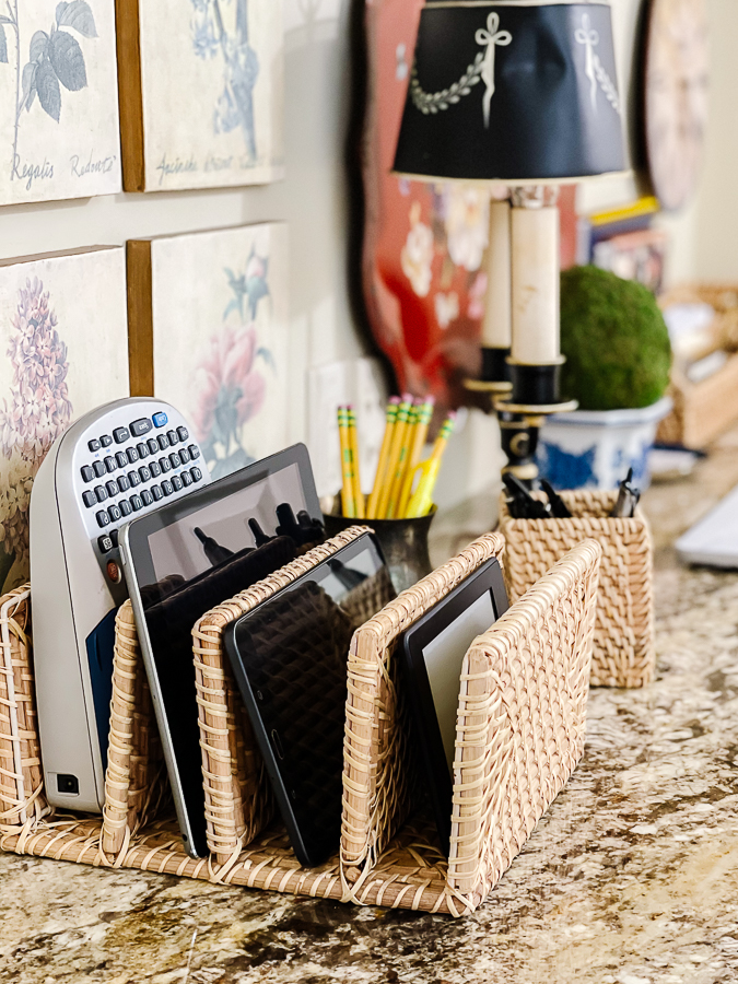 tablets in an organizer