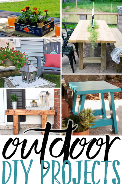 Outdoor DIY Projects are the features from Inspiration Monday!
