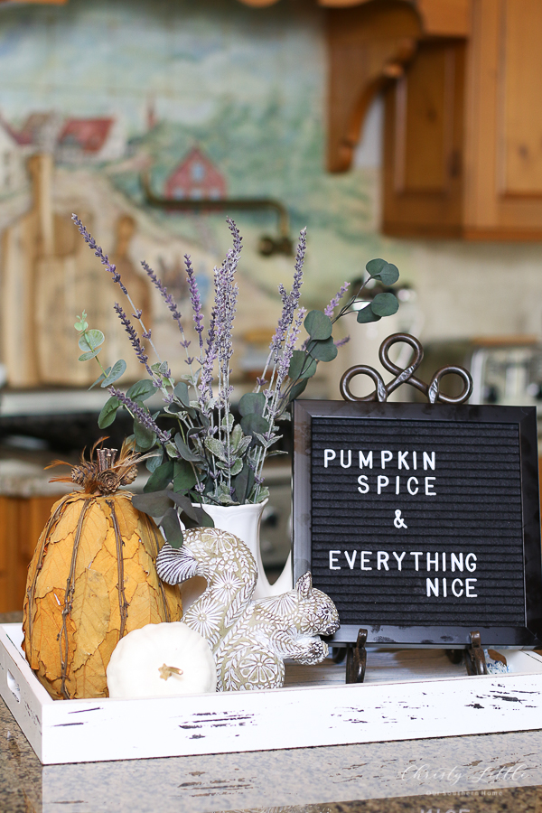 pumpkins and letterboard