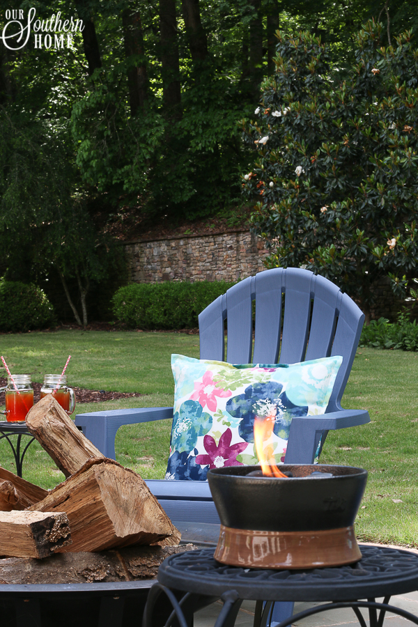 adirondack chairs resin lowes turquoise leather chair outdoor living summer tour - our southern home