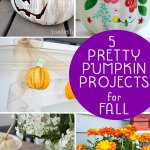 4 pretty pumpkin projects are the features from this week's Inspiration Monday link party!