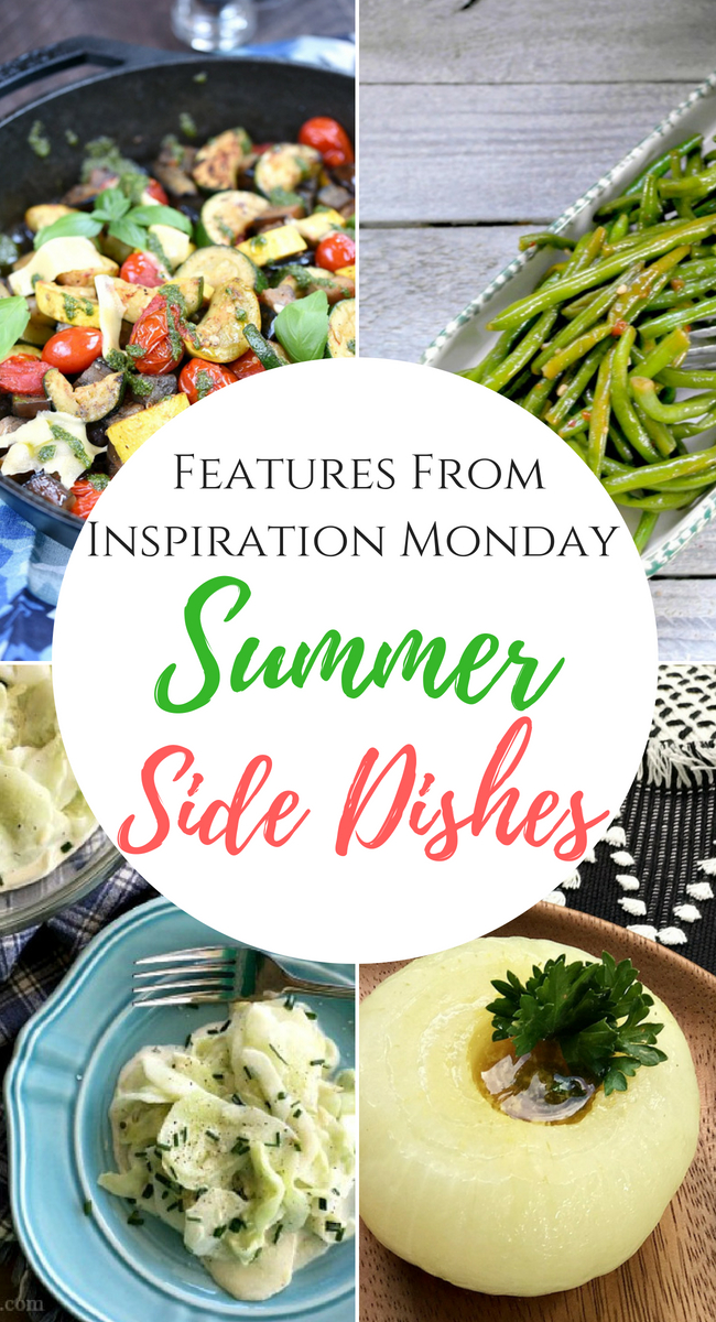 Seven summer side dishes are the features from inspiration Monday Link Party!