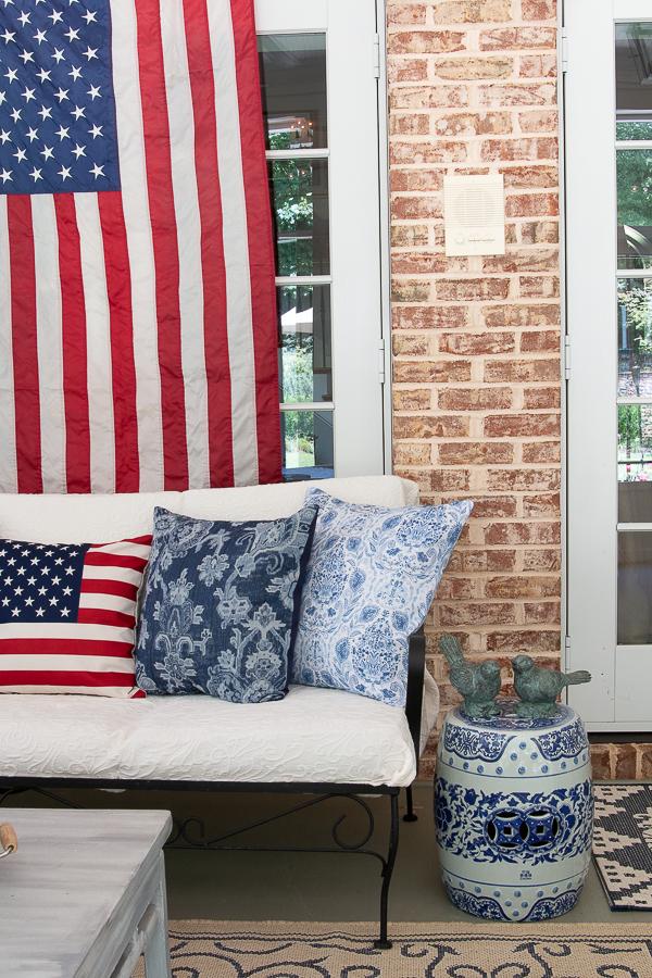 patriotic porch