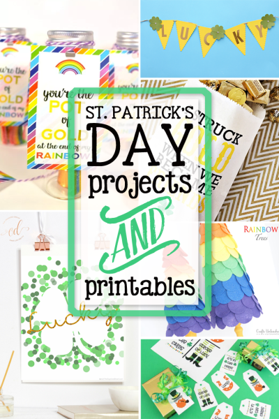 St. Patrick's Day projects and printables are the features from Inspiration Monday Link Party!