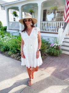 lady in white dress