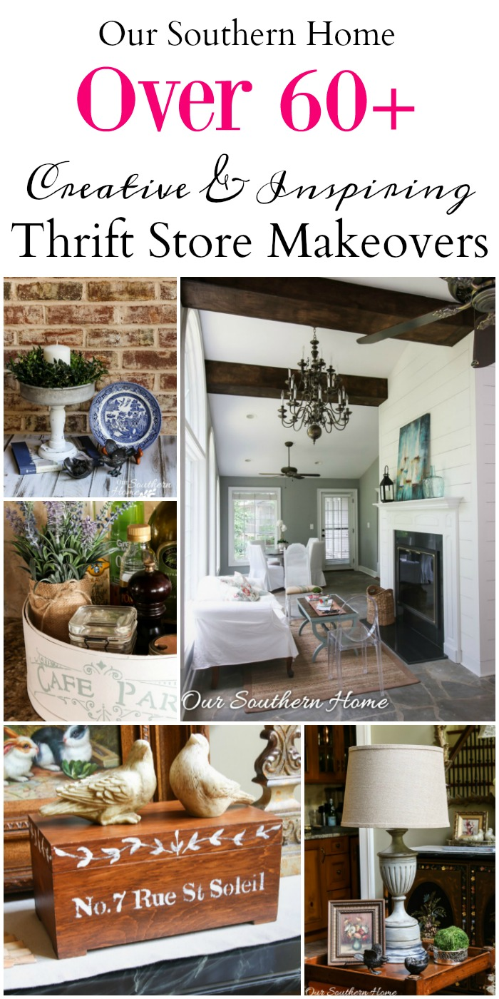 Over 60+ creative and inspiring thrift store décor makeovers