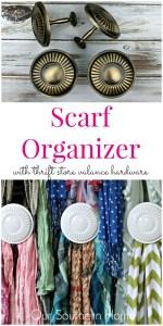 Thrift Store Scarf Organizer