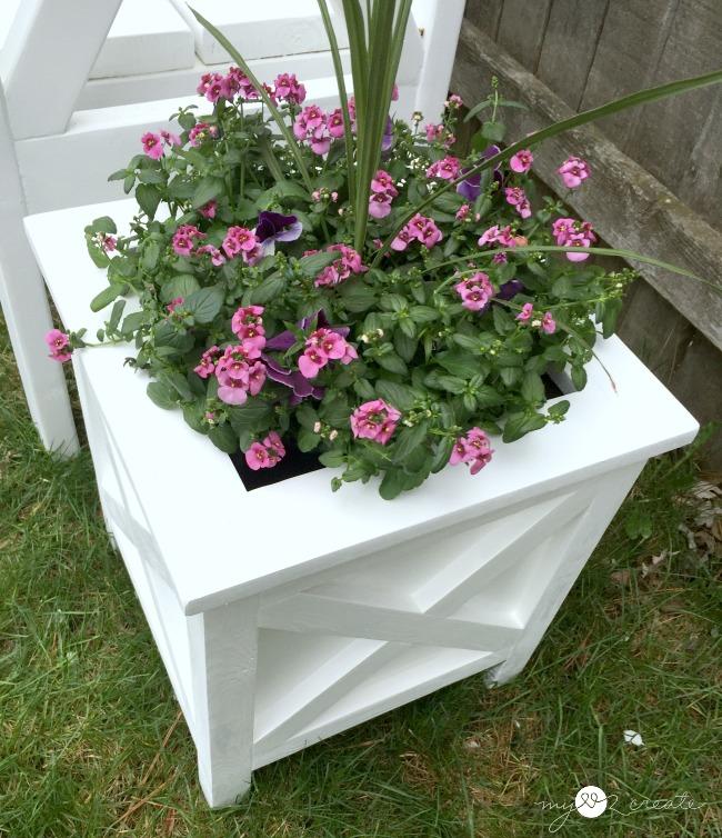 top view x planter, MyLove2Create