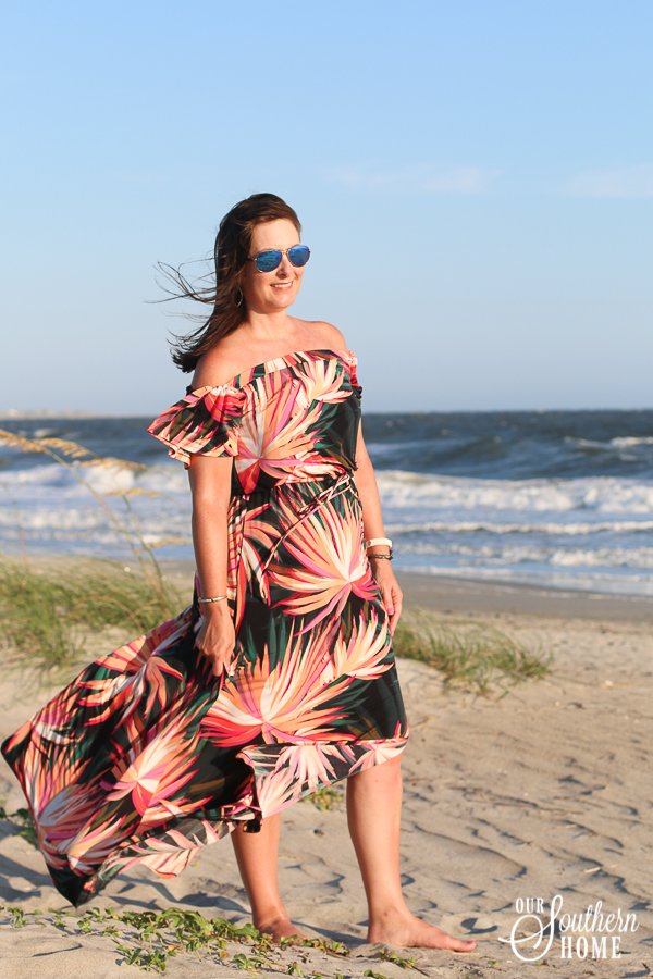 Amazing tropical maxi-dress from Nordstrom!