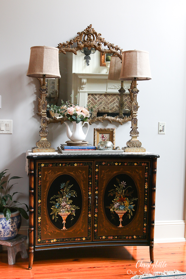 chest with home decor