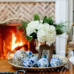 floral arrangement by fire