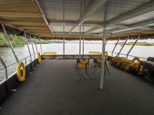 the lower level of our double decker boat