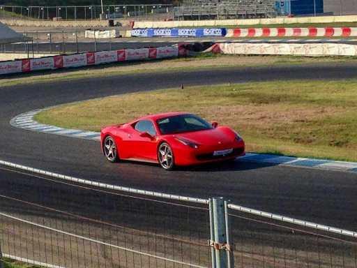 driving a Ferrari in Italy