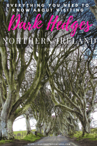 Dublin to the Causeway Coast - Everything you need to know about planning your trip to the Dark Hedges in Northern Ireland #NorthernIreland #DarkHedges #GOTsite #GameOfThrones #TreeTunnel