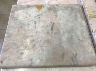 Sr Genevieve Harrington's first marble slab