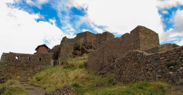 Inca fortress in Pisac, Peru