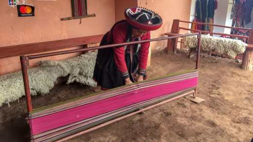 A demonstration of alpaca textiles in Chinceros is an amazing thing to see in the Sacred Valley.