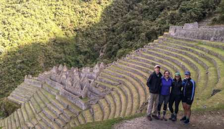Winay Wayna - ruins along the Inca trail