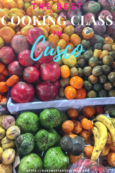 We had so much fun going to San Pedro Market learning about all of Peruvians produce during our cooking class in Cusco. It was the highlight of our time in Cusco and a must do experience for all foodies! #Cusco #CookingClass #Culinary #Food #Peru