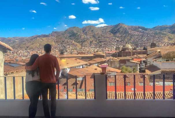 Amazing views of Cusco from Tocuyeros Boutique Hotel