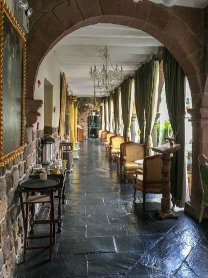 This boutique hotel in Cusco is a 16th century colonial mansion with some of its original structure.