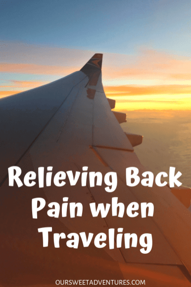 There are several ways to relieve back pain when traveling. Whether that be a hot bath after a long flight, a heating pad during your flight, pain relief creams or stretching - traveling with back pain does not have to be so painful.