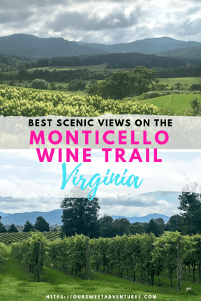The best Charlottesville wineries have not only the best wines, but the best scenic views on the Monticello Wine Trail. What can be better with a glass of wine in your hand and mountainous views?