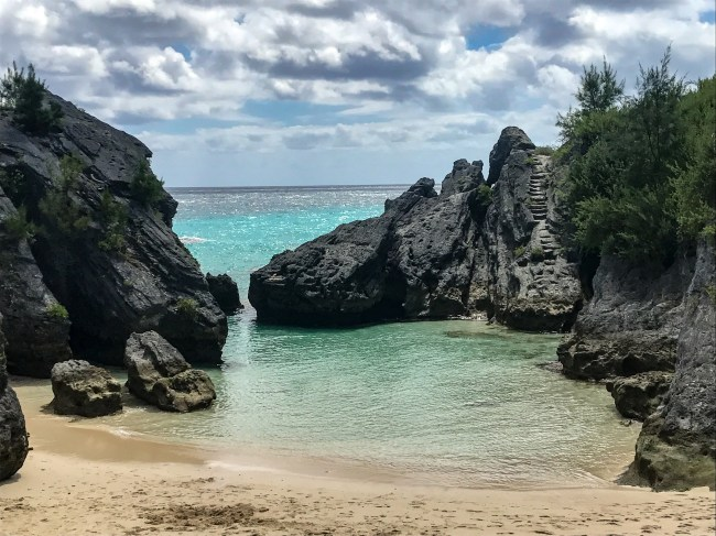 Jobson's Cove is a beautiful, secluded beach you cannot miss in Bermuda.