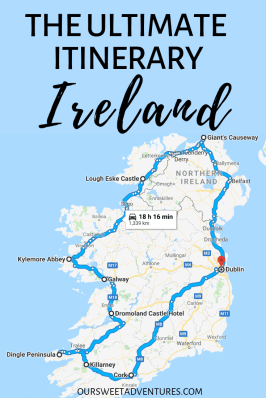 I have the ultimate itinerary for your road trip in Ireland. It is a full circle around the Emerald Isle. My itinerary includes all the things to do in Ireland, what to see along each route, where to eat, stay and more.