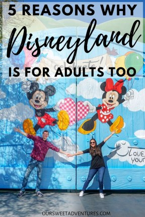 Celebrating Mickey and Minnie at Disneyland. Disneyland is full of beautiful murals including this one!