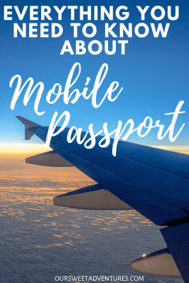 Have you heard of the FREE Mobile Passport?!?! It is the travel trend of the year for U.S. citizens traveling around the world. It is the quickest and easiest way to get back into the U.S. My post has everything you need to know about Mobile Passport. #TravelTips #TravelHack #MobilePassport #USATravel