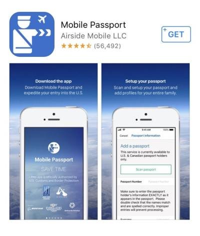 First steps of using Mobile Passport is downloading the app! It is simple to download, apply and use. Just follow the steps.