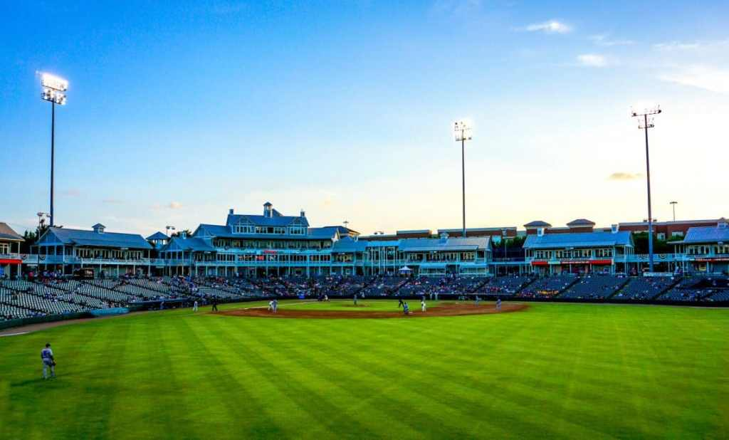 A picturesque photo of the RoughRiders baseball field.